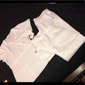 NWT Grey's Anatomy white scrubs